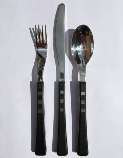Pixel cutlery set. Private client. 2006