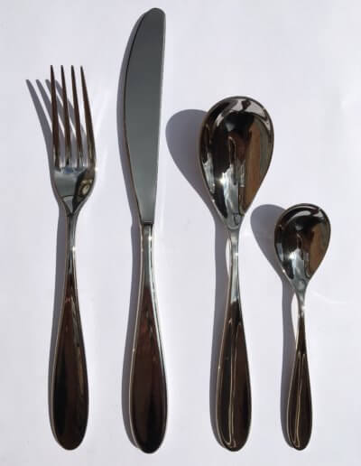 Skylark cutlery. Designed for a private client and sold worldwide in Habitat and other department stores from 2004.
