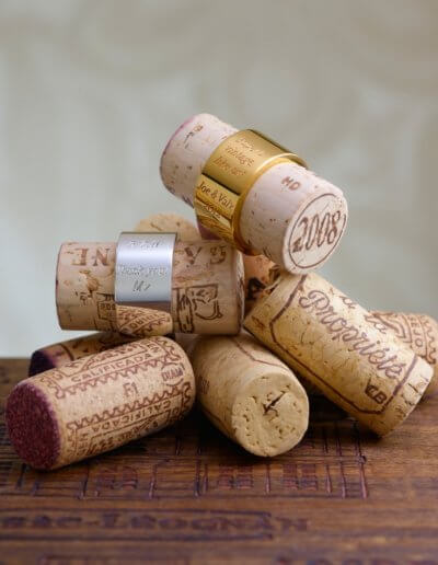 Comemorative cork bands. Private client.
